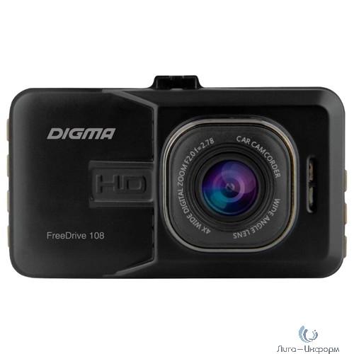 Видеорегистратор Digma FreeDrive 108 черный 1080x1920 1080p 140гр. NTK96223,Sony Sensor,Активное крепление, Угол обзора 140 градусов. [393026]