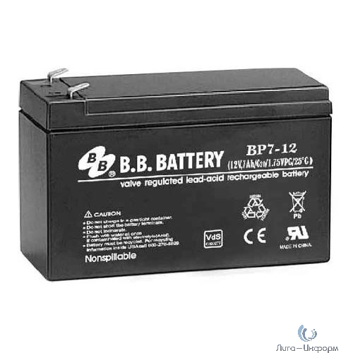 B.B. Battery Аккумулятор  BP 7-12 (12V 7Ah)