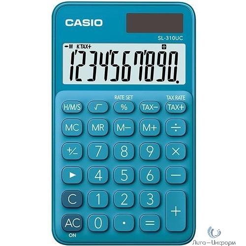 Калькулятор карманный Casio SL-310UC-BU-S-EC синий {Калькулятор 10-разрядный} [1013686]