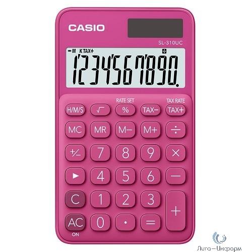 Калькулятор карманный Casio SL-310UC-RD-S-EC красный {Калькулятор 10-разрядный} [1048493]