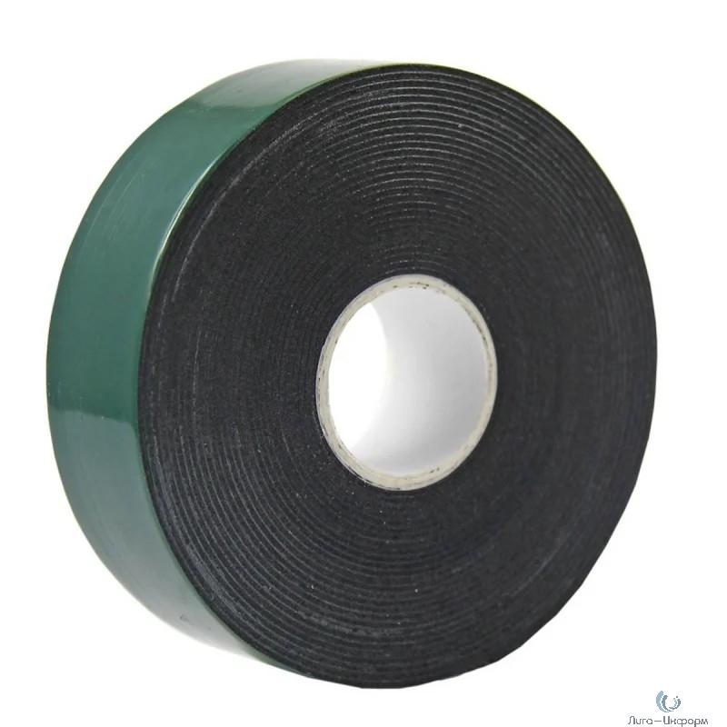 Двухсторонний скотч, зеленого цвета на черной основе, 30мм, 5метров  REXANT [09-6130]