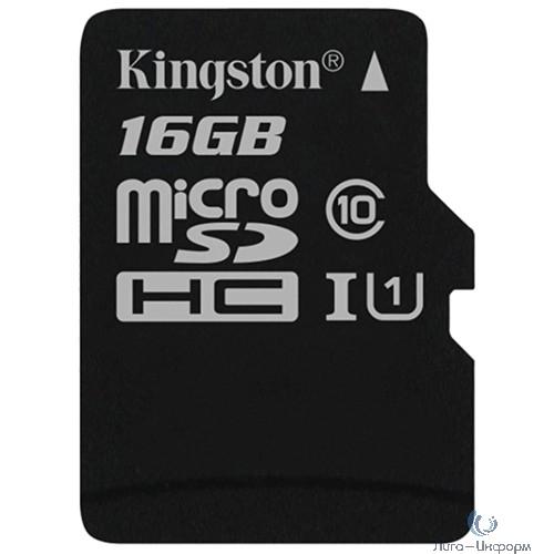 Micro SecureDigital 16Gb Kingston SDCS/16GB {MicroSDHC Class 10 UHS-I, SD adapter}