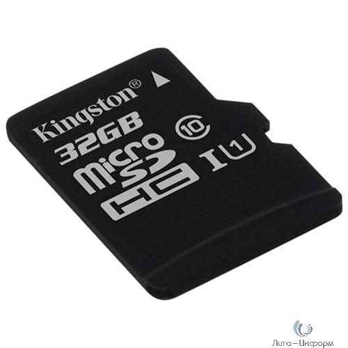 Micro SecureDigital 32Gb Kingston SDCS/32GBSP {MicroSDHC Class 10 UHS-I}