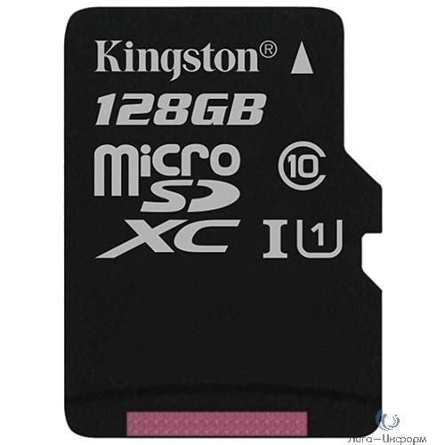 Micro SecureDigital 128Gb Kingston SDCS/128GBSP {MicroSDXC Class 10 UHS-I}
