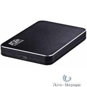 "AgeStar 3UB2A18C (BLACK) USB 3.0 Внешний корпус 2.5"" SATA, алюминий+пластик, черный, кабель USB3.0 A-type-С"