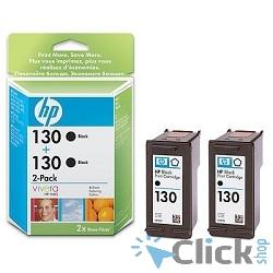 HP C9504HE Картридж №130, Black {DJ 5743/5943/6543/PH Smart 2573/2613/2713/8053, Black (2-pack)}