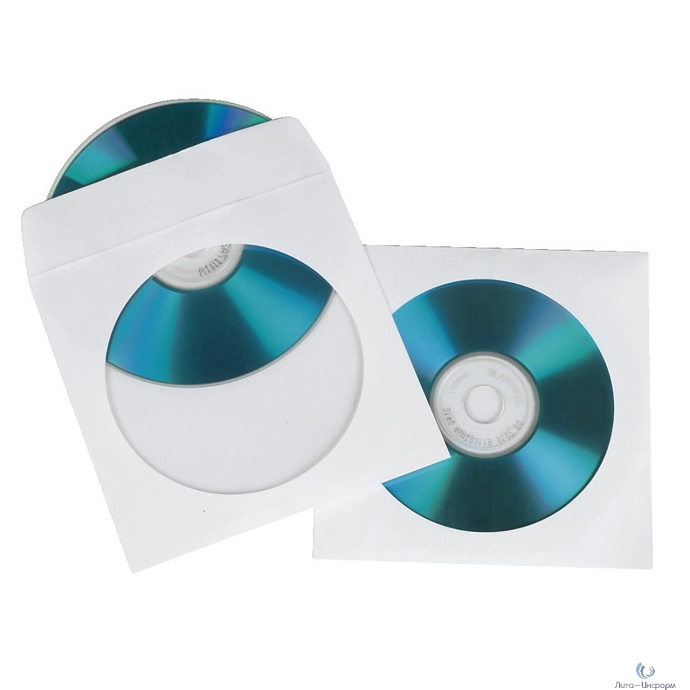 HAMA Конверт на 1CD/DVD H-49995  100 шт (белый) [825794]