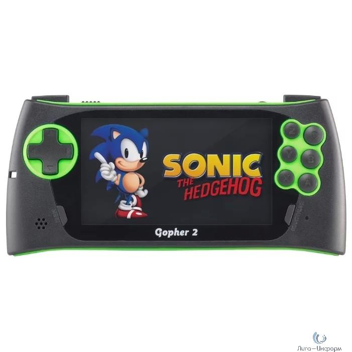 """SEGA Genesis Gopher 2 LCD 4.3"""" +700 игр (зеленая)"""