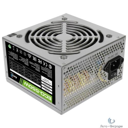 Aerocool 550W Retail ECO-550W ATX v2.3 Haswell, fan 12cm, 400mm cable, power cord, 20+4P, 12V 4+4P, 1x PCI-E 6+2P, 4x SATA, 3x PATA, 1x F
