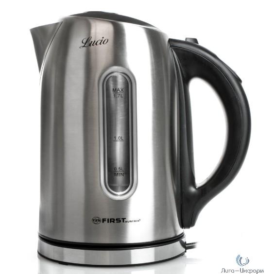 FIRST FA-5411-0 Silver Чайник, стальной, 1.7 л