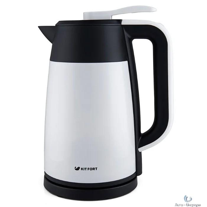 620-1-КТ Чайник Kitfort Vacuum Edition.Мощность: 1850-2200 Вт.Емкость: 1,7 л.белый
