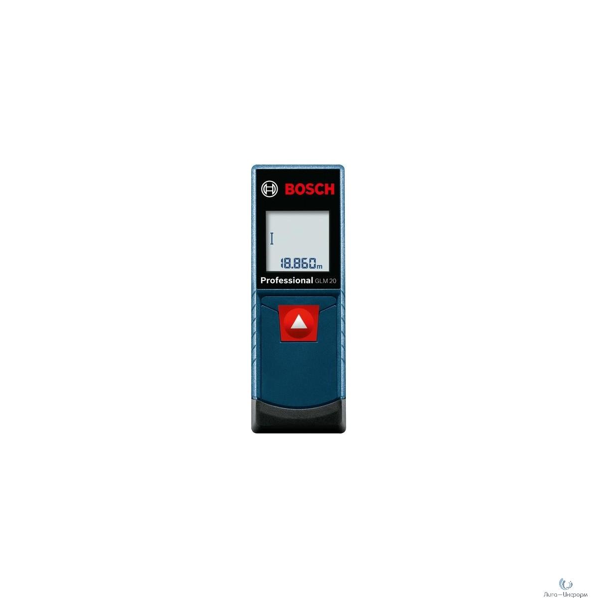 Bosch GLM 20 Лазерный дальномер [0601072E00] { 635 нм, < 1 мВт, диапазон 0,15 - 20,00, 0,13 кг }