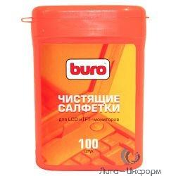 BURO BU-tft [817436] Малая туба с чистящими салфетками, для LCD, TFT-мониторов, 100шт. [817436]