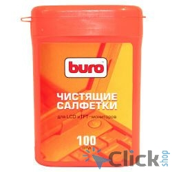 BURO BU-tft [817436] Малая туба с чистящими салфетками, для LCD, TFT-мониторов, 100шт.