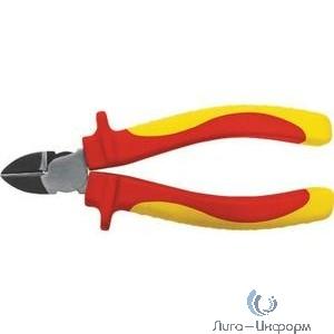 """FIT HQ Бокорезы """"Электро"""", CrV сталь, черное полированное покрытие, мягкие изолированные ручки 160 мм [50781]"""