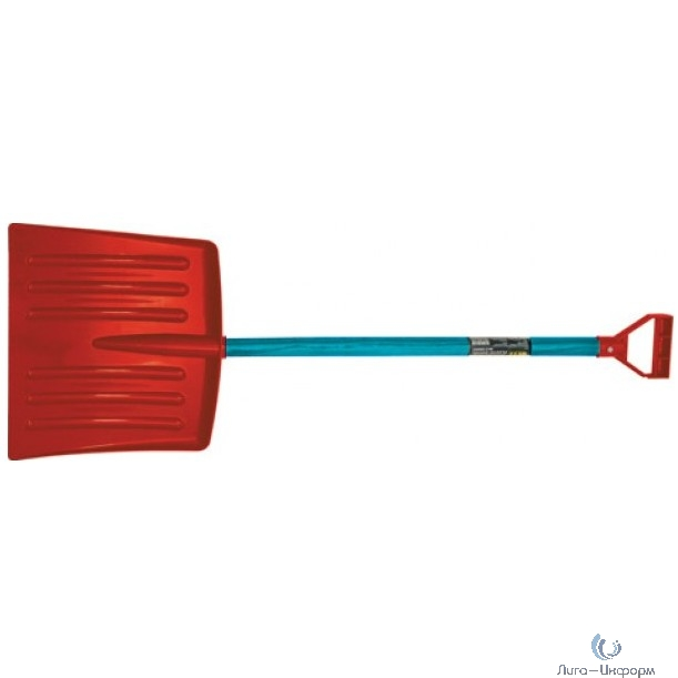 "FIT DIY Лопата для уборки снега ""мини"" пластиковая, деревянный черенок 305x270x880 мм [68090]"