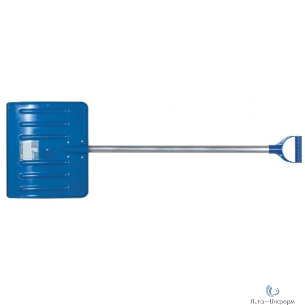 FIT РОС Лопата для уборки снега Профи поликарбонатная, алюминиевый черенок, средняя 460х420х1350 мм [68118]