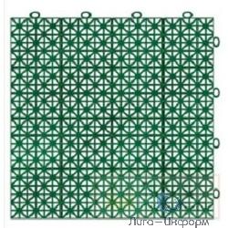 FIT РОС Покрытие садовое модульное, 300 х 300 мм (11шт=1кв.м), зеленое [77492]