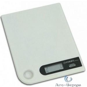FIRST FA-6401-1-WI Весы кухонные, электронные, пластик, 5 кг, белый