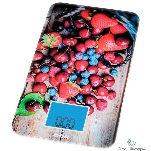 BBK KS107G (DB/R) Весы кухонные темно-синий/красный