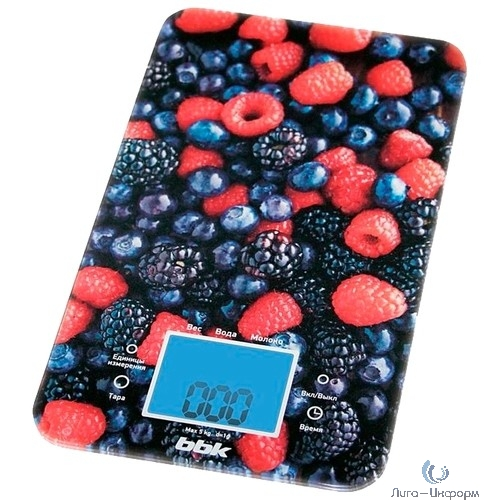 BBK KS107G (B/R) Весы кухонные, стекло/ пластик, 5 кг, чёрный/красный
