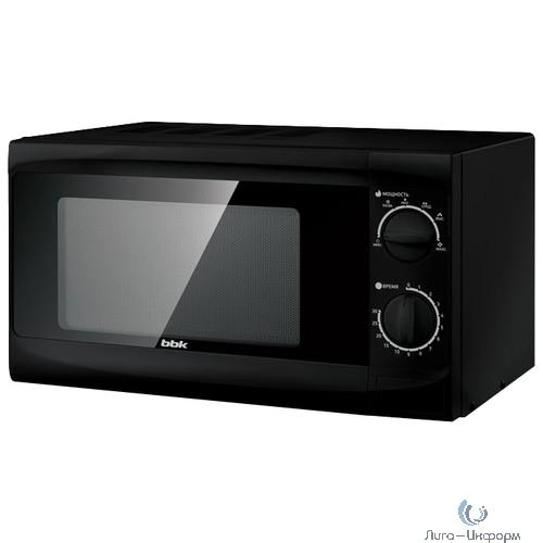 BBK 20MWS-706M/B (B) Микроволновая печь, 20л, 700Вт, соло, механическое управление, цвет чёрный.
