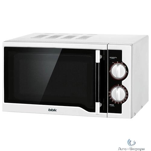 BBK 20MWS-712M/WB Микроволновая печь, 700 Вт, 20 л, белый