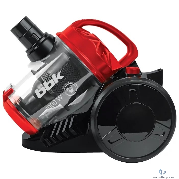 BBK BV1503 (B/R) Пылесос,  Потребляемая мощность (Вт) 2000; Мощность всасывания (Вт) 320; Тип пылесборника циклонный фильтры; черный/красный