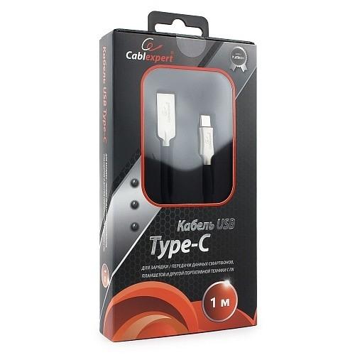 Cablexpert Кабель USB 2.0 CC-P-USBC02Bk-1M AM/<wbr>Type-C, серия Platinum, длина 1м, черный, блистер