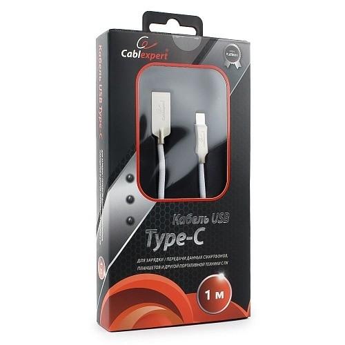 Cablexpert Кабель USB 2.0 CC-P-USBC02W-1M AM/<wbr>Type-C, серия Platinum, длина 1м, белый, блистер