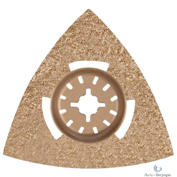 FIT HQ Насадка шлифовальная карбидная треугольная 80 мм [37935]