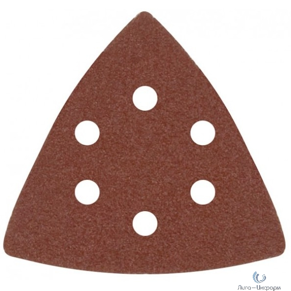 FIT HQ Листы шлифовальные треугольные на тканевой основе, 80 мм, набор 5 шт. [37953]