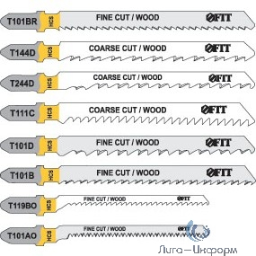 FIT HQ Полотна по дереву, HCS, фрезерованные, волнистые зубья, 82/56/2 мм (Т119ВО), 2 шт. [40937]