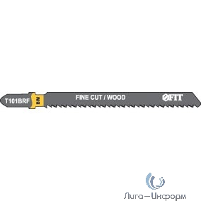 FIT HQ Полотна по дереву, Bimetal, шлифованные под свободным углом, реверсивные зубья, 100/74/2,5 мм (T101BRF), 2 шт. [40956]