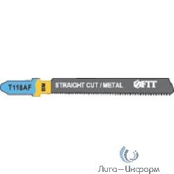 FIT HQ Полотна по металлу, Bimetal, фрезерованные, волнистые зубья, 76/51/1,1 мм (T118AF), 2 шт. [40971]