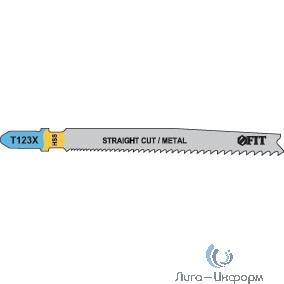 FIT HQ Полотна по алюминию и цв.мет, HSS, разведенные, фрезерованные зубья, 100/74 мм, переменный шаг (T123X), 2 шт. [40978]