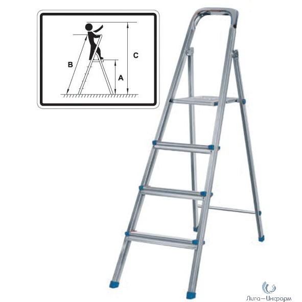 FIT КУРС РОС Лестница-стремянка стальная, 4 ступени, вес 4,5 кг [65326]