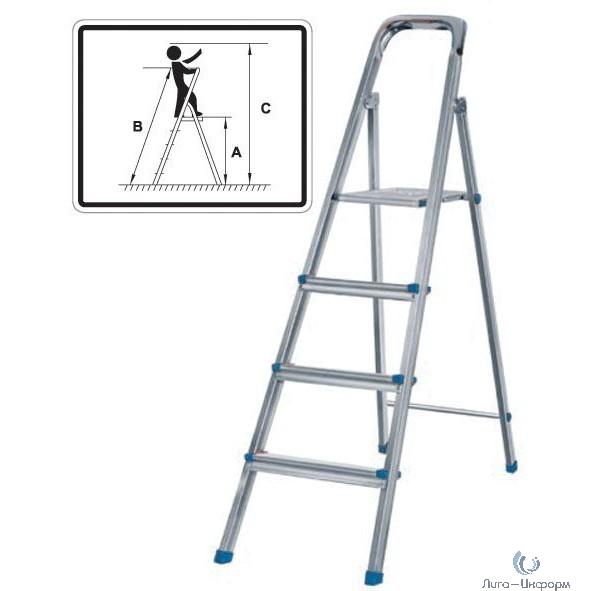 FIT КУРС РОС Лестница-стремянка стальная, 7 ступеней, вес 7,3 кг [65329]