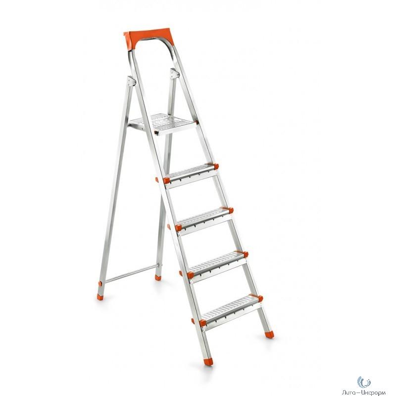 FIT РОС Лестница-стремянка стальная, 5 ступеней, вес 6,6 кг [65333]