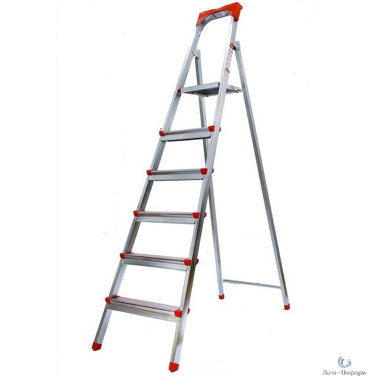 FIT РОС Лестница-стремянка стальная, 6 ступеней, вес 8,0 кг [65334]