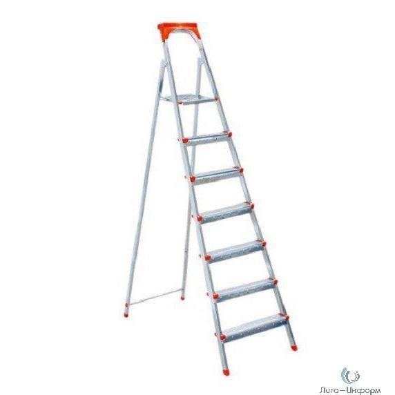 FIT РОС Лестница-стремянка стальная, 7 ступеней, вес 9,0 кг [65335]