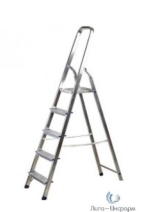 FIT РОС Лестница-стремянка алюминиевая, 5 ступеней, вес 3,6 кг [65343]