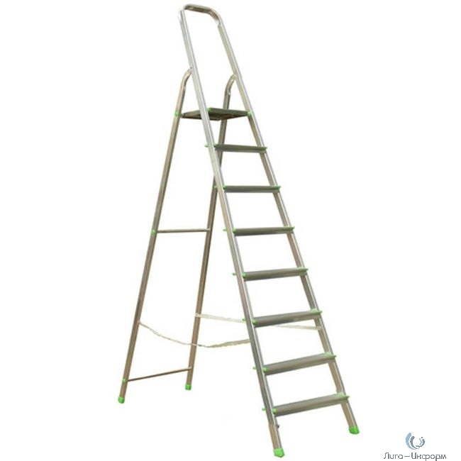 FIT РОС Лестница-стремянка алюминиевая, 8 ступеней, вес 6,0 кг [65346]
