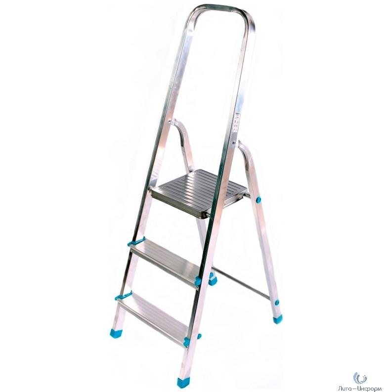 FIT КУРС РОС Лестница-стремянка алюминиевая, 3 ступени, вес 3,3 кг [65351]