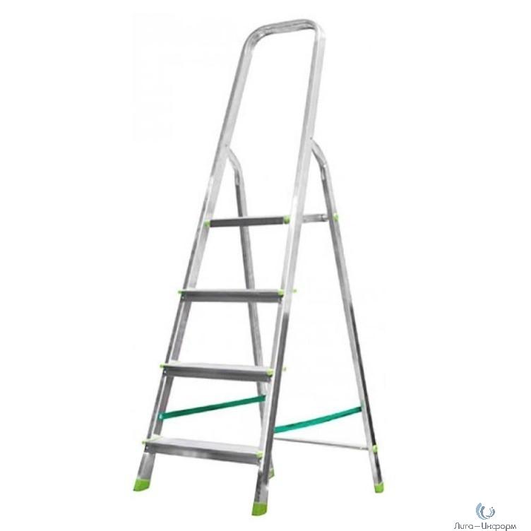 FIT КУРС РОС Лестница-стремянка алюминиевая, 4 ступени, вес 3,6 кг [65352]