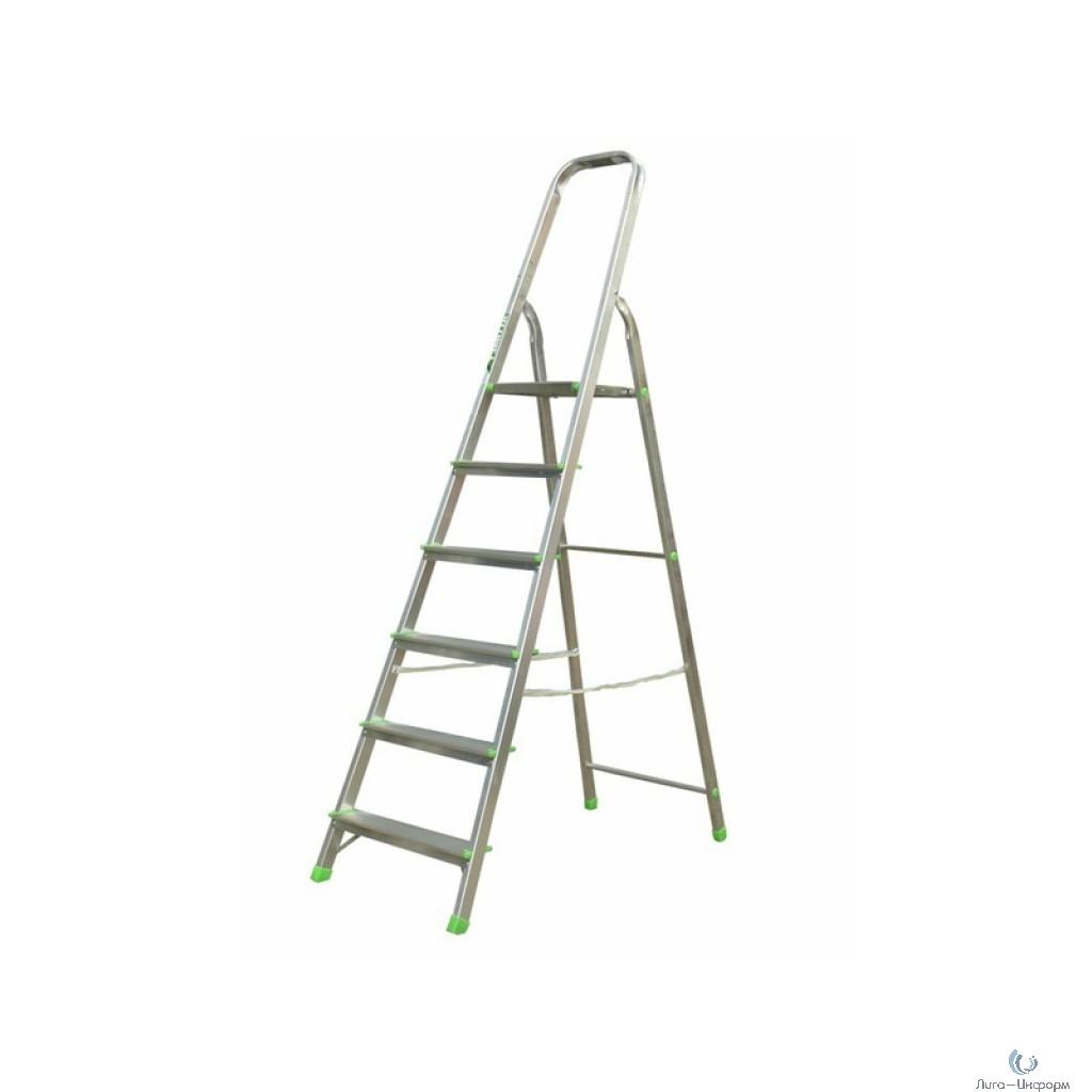 FIT КУРС РОС Лестница-стремянка алюминиевая, 6 ступеней, вес 4,5 кг [65354]