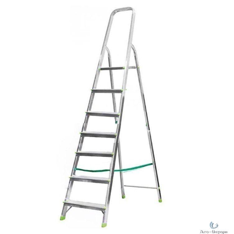 FIT КУРС РОС Лестница-стремянка алюминиевая, 7 ступеней, вес 5,3 кг [65355]