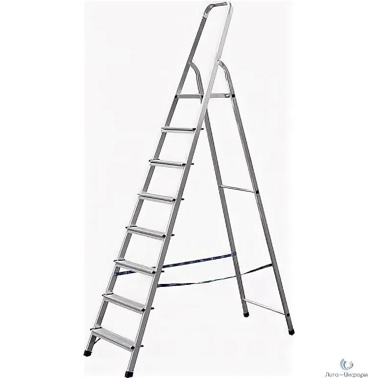 FIT КУРС РОС Лестница-стремянка алюминиевая, 8 ступеней, вес 6,0 кг [65356]