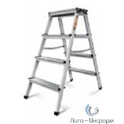 FIT КУРС РОС Лестница-стремянка стальная двусторонняя, 4 ступени, Н=87 см, вес 4,1 кг [65393]