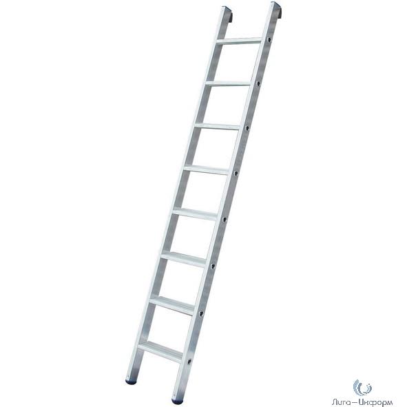 FIT КУРС РОС Лестница приставная алюминиевая, 8 ступеней, Н=223 см, вес 2,9 кг [65412]